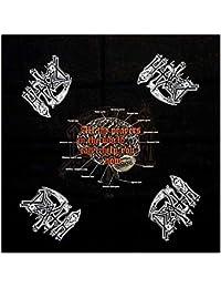 Death Bandana Spiritual Healing Brain Diagram Official Black (22in x 22in) One Size