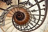 Artland Qualitätsbilder I Alu Dibond Bilder Alu Art 60 x 40 cm Architektur Architektonische Elemente Foto Bunt C8DW Treppe