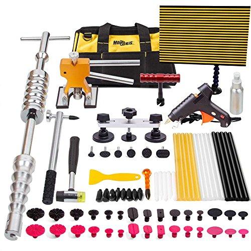 Preisvergleich Produktbild Mookis 77-teilig Auto Dellen Reparatur, Slider Hammer Lifter mit Puller Reparaturset, Gun selbstklebend Sticks, Lockvogel Taben