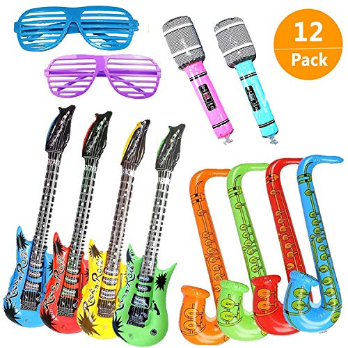 12PCS Inflatables Guitar Saxopho...