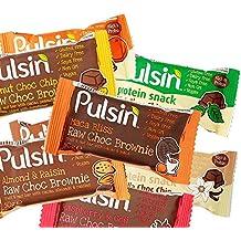 Pulsin MixBox 18 Riegel gemischt - Maple - Vanilla - Mint - Raspberry - Orange - Brownie