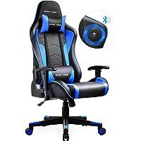 GTPLAYER Gaming Stuhl mit Lautsprecher Bürostuhl Schreibtischstuhl Musik Audio Gamer Stuhl Drehstuhl Ergonomisches…