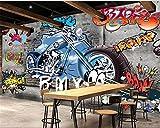 Wapel Benutzerdefinierte Hintergrundbilder Home Decoration Graffiti Motorrad Foto Tapete Hotel Design Wohnzimmer Hintergrund 3D Tapete Seidenstoff 180x130CM