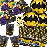 HHO Lego Batman Movie Partyset 53tlg. Teller Becher Servietten Tischdecke für 16 Kids