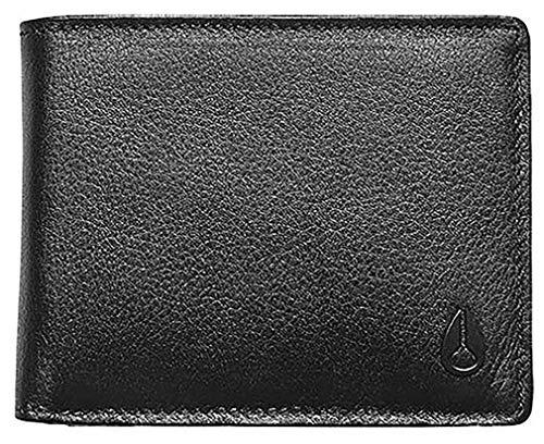 Nixon Pass Leather Bi-fold ID Wallet - Black -