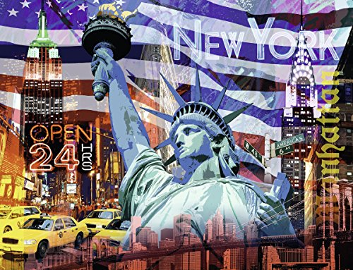 Ravensburger 16687 9 Puzzle New York Collage, 2000 Teile - New 300 Teile York Puzzle