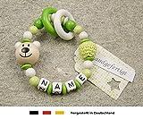 Baby Greifling Beißring geschlossen mit Namen | individuelles Holz...