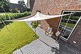 Outent® Sonnensegel 3,6 x 3,6 x 3,6m wasserabweisend Sonnenschutz UV-Schutz beige - 5