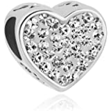 Uniqueen Best Mom Heart Charms On Bead fit Bracelet Mother's Gift
