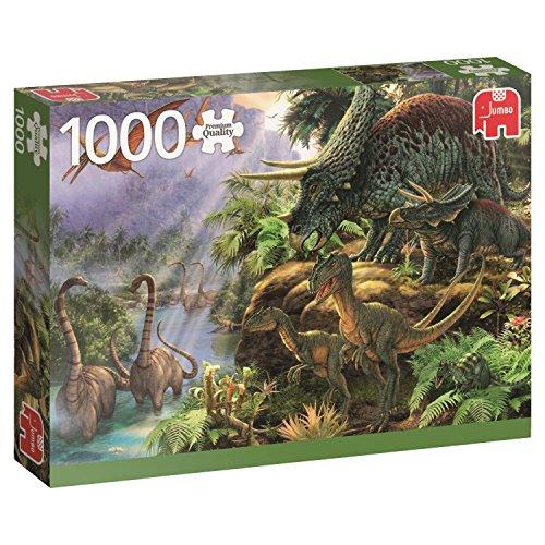 JUMBO-La Vallée des Dinosaures Puzzle 1000 Pièces, 618378