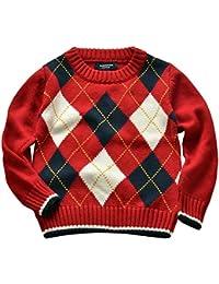 Niñas Niños Infantes Uniforme Escolar Jersey Suéter Manga Larga Ropa de Punto
