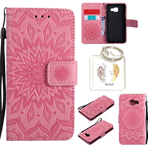 für Samsung Galaxy A3 2016 ( A310 F ) Geprägte Muster Handy PU Leder Silikon Schutzhülle Handy case Book Style Portemonnaie Design für Samsung Galaxy A3 2016 ( A310 F ) + Schlüsselanhänger(/*5) (2)