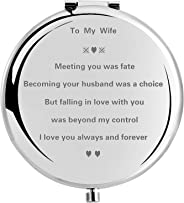 wompolle Wife Gifts Romantic for Birthday Mothers Day, Wife Gifts for Bride, for Her, Women Gift Present for Valentines Day, Ideas from Husband,Novelty Gift For Wife,anniversary, 2.6in (to my wife)