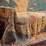 AFAHXX Dekoration Dick Sofabezug für Sofa,Tapisserie Multifunktion Quaste Karte Decke Sofa Überwürfe Sofahusse sofaüberwurf Möbel-schutzhülle-A 230x250cm(91x98inch)