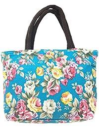 105d565d3 Bolso impreso flor de la lona de las mujeres, bolso de compras de las  mujeres