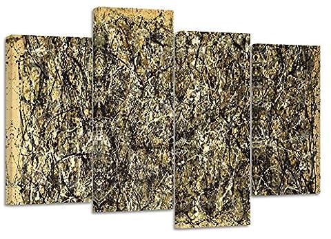 Jackson Pollock Impressions expressionniste abstraite/Lot de 4Impressions sur toile/81,3x 50,8cm