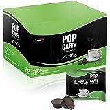 Pop Caffè E-Mio 2 Lot de 100 capsules de café crémeux, compatibles avec Lavazza A Modo Mio