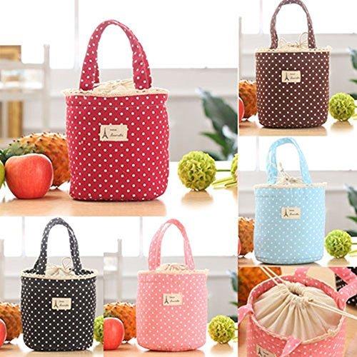 Generic rosa: 2016–contenitore portapranzo termico impermeabile isolato, borsa di marca qualità portatile carry bag sweet tote picnic sacchetto