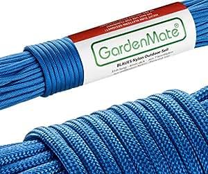 GardenMate Paracord 550 Professionelles Nylon Outdoor-Seil Blau 31m lang 4mm dick - Kernmantel-Seil aus 7 Kernfäden aus reißfestem Nylon