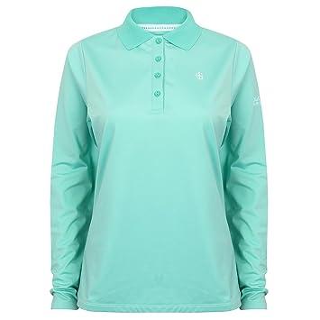 S-XL Womens Long Sleeved Ring Spun 100/% Soft Cotton Polo Shirt 7 Colour Options sizes