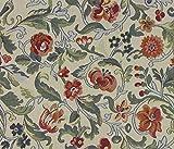 Möbelstoff Picasso 517 Blumenmuster Farbe Multicolor als