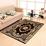"Dailz Ethnic Velvet Touch Abstract Chenille thin carpet/mat/dari- 55""x80"", Multicolour"