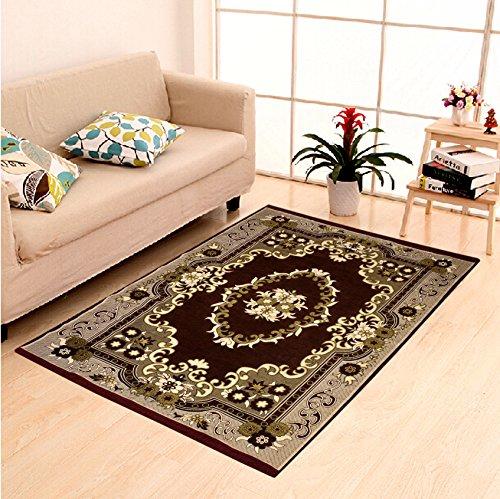 Home Elite Ethnic Velvet Touch Abstract Chenille thin carpet/mat/dari- 55