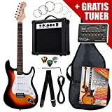 Rocktile ST Pack Guitare electrique Set Sunburst kit y compris amplificateurs, spoche, tuner, câbles