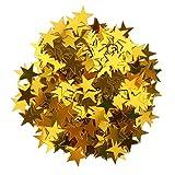Blesiya Stern Konfetti Stern Tisch Konfetti Metallisch Folie Sterne Pailletten für Party Hochzeit Dekorationen, 15 Gramm - Gold, 10mm