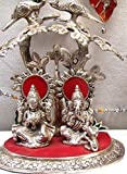 #10: International Gift Silver Plated Laxmi Ganesha Tree God Idols Oxidized Silver Finish