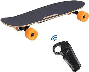 Blackpoolal 200W Elektro Skateboard mit Fernbedienung Longboard Pennyboard Scooter Funboard Elektroroller Elektroboard 15km/h Komplettboard für Kinder und Erwachsene bis 120 kg