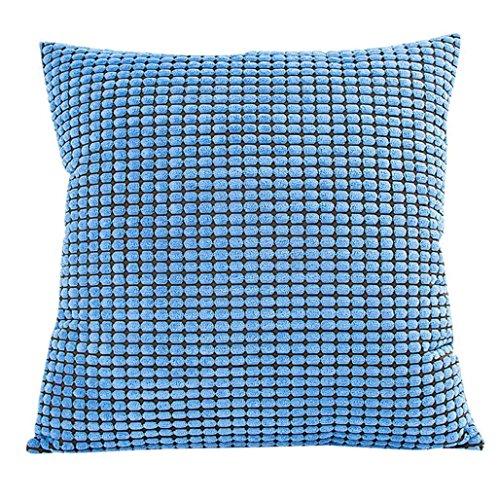 Sannysis Funda de Cojín Almohada raya del color 45 X 45cm (Azul)