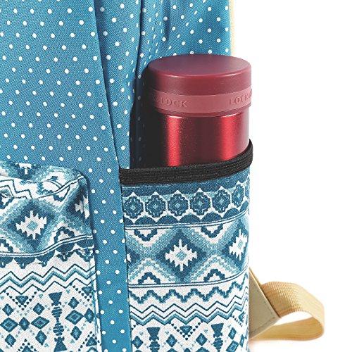 Unisex Rucksack Backpack Sport Freizeit Schuletaschen ivory blau