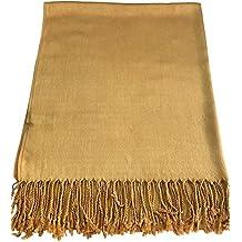 6dce97ab45e6 CJ Apparel Large écharpe châle en pashmina (60 couleurs et plus) Nouveau