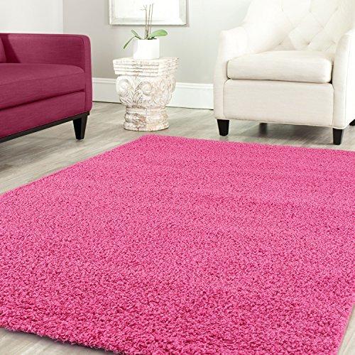 Teppich-home stella shaggy tappeto colore pelo lungo tappeti moderni per soggiorno camera letto tinta unita turchese, 160x220 cm