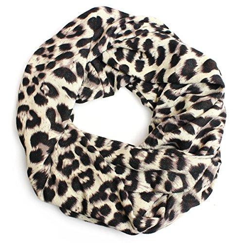 Glamexx24 TREND Loop schal in Leopard - Blumen - Pinkt - Stern Muster Langschal Schlauchschal Hals-Tuch vielen Muster und Farben SC201701