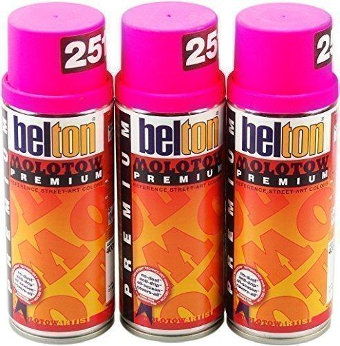 Molotow PREMIUM Sprühdosen NEON FARBEN 3 x 400ml Vorratspack - neon pink