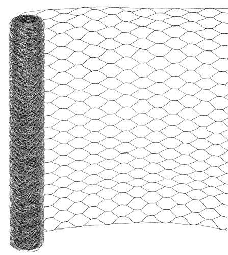 25 Meter Rolle Maschendraht Sechseckgeflecht Hühnerzaun Geflügelzaun Drahtzaun verzinkt Maschenweite 50 mm (Höhe 100 cm)