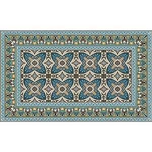 tapis vinyle 60x80cm imitation carreaux de ciment bella cuisine maison. Black Bedroom Furniture Sets. Home Design Ideas