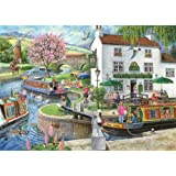 "1000 Piece Jigsaw Puzzle - Find the Differences No.6 - 'By the Canal' - ""New February 2014"""