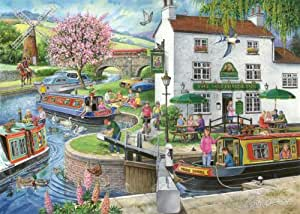 """1000 Piece Jigsaw Puzzle - Find the Differences No.6 - 'By the Canal' - """"New February 2014"""""""