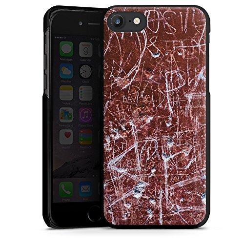 Apple iPhone X Silikon Hülle Case Schutzhülle Rost Kratzer Muster Hard Case schwarz