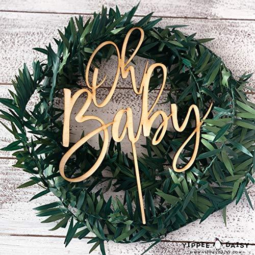 nutzerdefinierte Cake Topper Boy oder Girl Dusche Boho Woodland Oh Baby Holz Cake Topper Laser Topper Baby Sprinkle benutzerdefinierte Topper ()