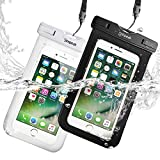 (IPX8 Certificato )(Confezione da 2) Custodia Impermeabile Subacquea (30 metri sott'acqua) Universale per Smartphone 5.8' Massimo ,Simpeak Borsa Waterproof Cover Case Impermeabile per iPhone 7/ 7 Plus/ SE / 6s / 6s Plus / 6 / 6 Plus / 5s / 5c / 5, Samsung S8 / S7 / S7 edge / S6 / S5 ed altri Smartphone, Nero+Bianco