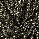 Fabulous Fabrics Strickstoff Lurex – schwarz/Gold — Meterware ab 0,5m — zum Nähen von Röcken, Kleidern und Abend- und Partymode
