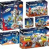 PLAYMOBIL® Space 6er Set 9487 9488 9489 9490 9491 9492 Mars-Station + Rakete + Erkundungsfahrzeug + Meteoroiden-Zerstörer + Trike + Astronaut