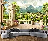 Yosot Benutzerdefinierte 3D Tapete Roman Column Balkon Stadtlandschaft 3D Hintergrund Wand Dekoration Hintergrund Wandbilder 3D Tapete-200cmx140cm