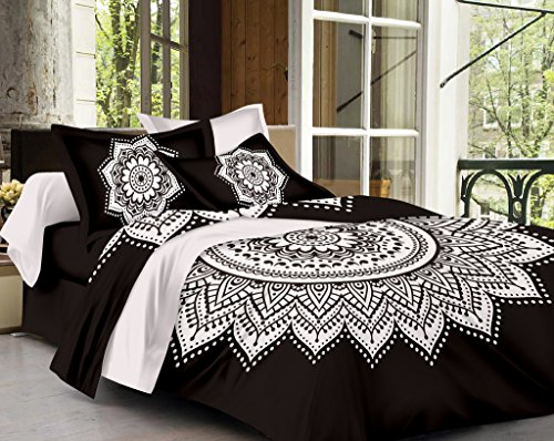 SheetKart Traditional Mandala Cotton King Size Double Bedsheet with 2 Pillow Covers...