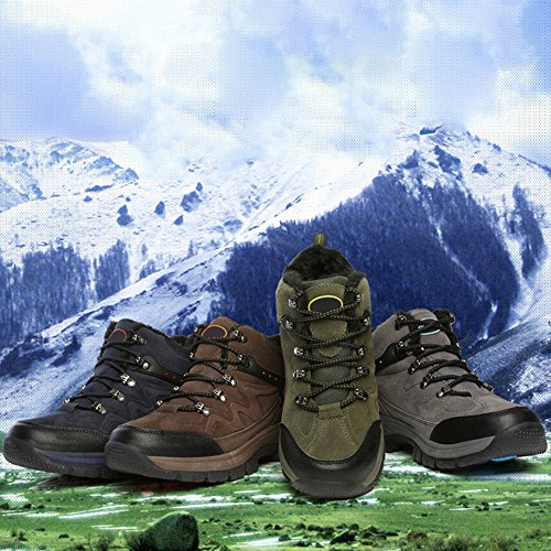 Wanderschuhe Eastlion Paar Herbst und Outdoor Warme Plüsch Dunkelblau Reise Plus Wanderschuhe Winter Schuhe rxr8wa