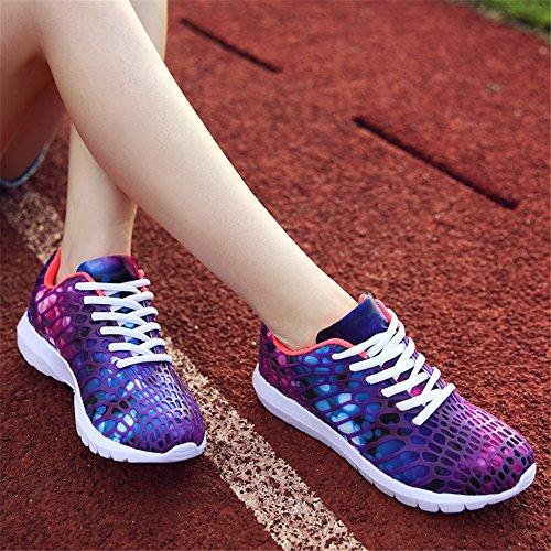 Sapatos Unisex Confortável Corrida E Roxo Colorido Luz Tênis xqq4PYSB